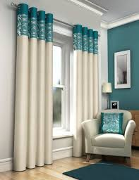 Teal Curtain Design Fully Lined Eyelet Ready Made Curtains