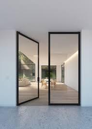 the glass door double glass door with