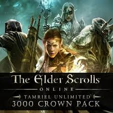 buy the elder scrolls online tamriel unlimited 3000 crown pack cd