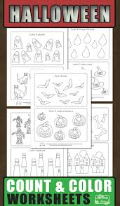 halloween count and color worksheets itsy bitsy fun