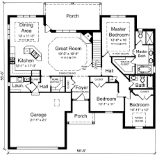 3 bedroom ranch floor plans plan 39190st one level 3 bedroom home plan third bedrooms and house