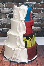 classic wedding cakes and fran superheroes vs classic wedding cake cake by