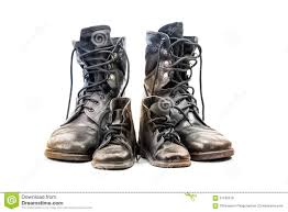 dirty riding boots combat boots for and kid stock photo image 57169619
