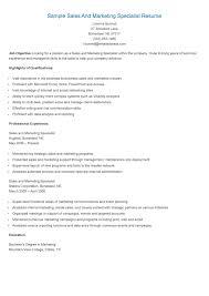 marketing resume examples
