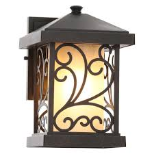 Hampton Bay Outdoor Light Fixtures by Progress Lighting Cypress Collection 1 Light Forged Bronze Outdoor
