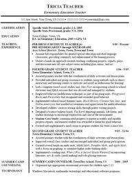 Kindergarten Teacher Job Description Resume by Teaching Resumes For New Teachers Resume And Cover Letter