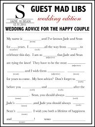 Best Wedding Guest List Template Wedding Mad Libs Template Free Fun Unique Guest Book Alternative