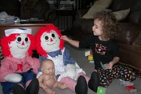 raggedy ann u0026 andy and a scary baby doll who happens to be in the