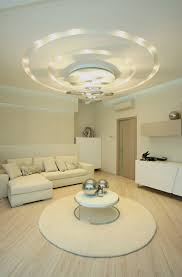 great combination of the recessed lighting on german false ceiling