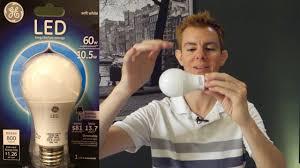 Led Light Bulbs Ge by Review Ge 60 Watt Equivalent Soft White Led Light Bulb Youtube