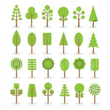 different types of trees different types of trees vector free download
