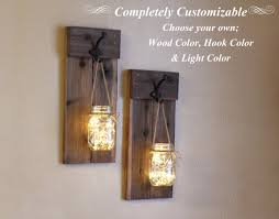 Rustic Wall Sconces Jar Wall Sconces Candle Holder Jar Lights