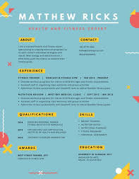 colorful geometric shapes creative resume templates by canva