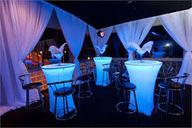 cocktail table rental 30 illuminated cocktail tables rental los angeles