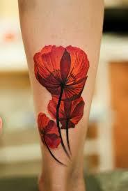 innovative 3d flower tattoo on thigh tattooshunter com