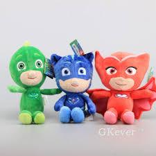 3x pj masks gekko catboy owlette plush toy soft stuffed doll 8