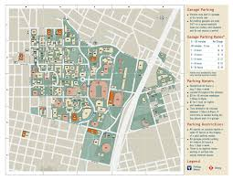 Texas Map Austin University Of Texas Parking Map My Blog