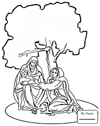 coloring pages for kids christianity bible jesus nativity angel