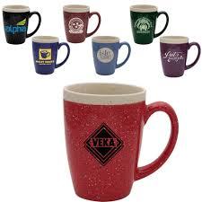 Ceramic Coffee Mugs Custom Printed Speckled Glaze Ceramic Mugs 16 Oz Coffee Mug