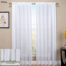 Sheer Patio Door Curtains Tergaline Rod Pocket Sheer Curtain Panel