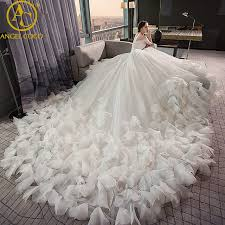 feather wedding dress online shop high quality real photos luxury feather wedding