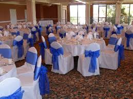 royal blue chair sashes blue chair bows wedding tips and inspiration