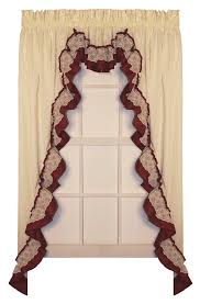 Swag Curtains With Valance Bj U0027s Country Charm Ruffled Swag Curtains Ruffled Swags