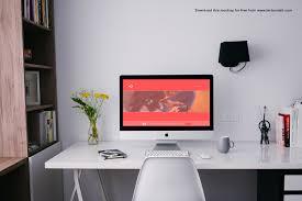 imac u0026 ipad desk setup mockups mockupworld