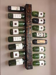 Single Wine Bottle Holder by Wood Wall Mounted Vertical Wine Rack Display Holds 16 Bottles The