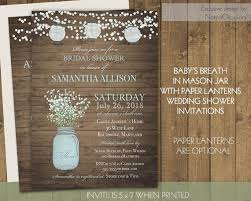 lantern wedding invitations paper lanterns bridal shower invitations jar baby s breath