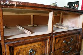 How To Turn A Dresser Into A Bathroom Vanity by How To Turn A Dresser Into A Tv Stand Diy Two Twenty One