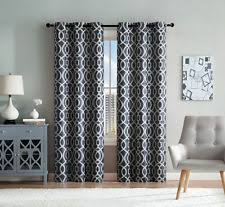 Denim Curtain Geometric Moroccan Curtains Drapes U0026 Valances Ebay