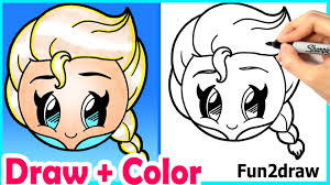 draw elsa emoji cute easy