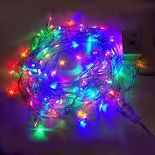led lights rgyb 10m mode string blue