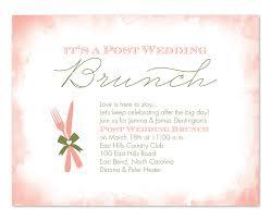 after wedding brunch invitation wording wedding breakfast invitation wording post wedding brunch party