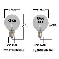 clear g50 7 watt replacement bulbs 25 pack
