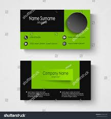 modern sample green business card template stock vector 201321740