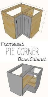 how to make a corner base cabinet frameless pie corner base cabinet corner base cabinet diy