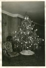 vintage black u0026 white snapshot photograph christmas tree room