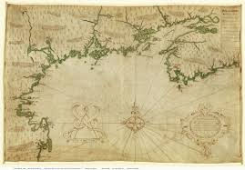 Map Of New England Colonies by 1607 Samuel De Champlain New England Map