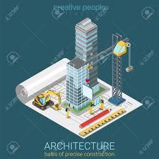 Skyscraper Floor Plan by Architectural Plan Flat 3d Isometric Concept Skyscraper Glass