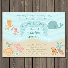 the sea baby shower invitations baby shower invitation the sea baby shower