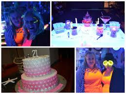 21st birthday party neon glow in the dark theme youtube