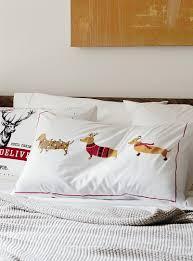 holiday hound pillowcase simons maison bed sheets