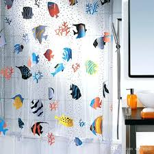 Fishing Shower Curtains Fish Shower Curtains Pretty Blue Tropical Fish Shower Curtain Fish