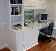 Custom Desk Ideas Built In Computer Desk Custom Desk Built On Slide Out Offset Built