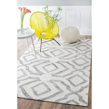 Orange And White Rugs Contemporary Handmade Abstract Gray And White Wool Rug