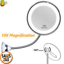 Wall Mounted Magnifying Mirror 10x Lighted Makeup Mirror 10x Ebay