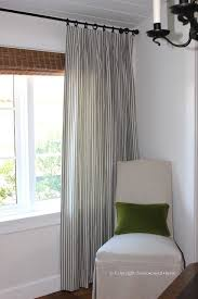 Blue Ticking Curtains Ticking Stripe Curtains Classic Casual Home Dining Room
