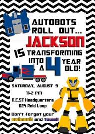 free printables autobots transformers birthday invitation